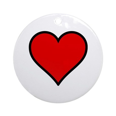 Simple Heart Ornament (Round)