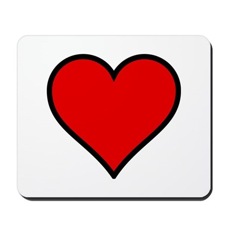 Simple Heart Mousepad