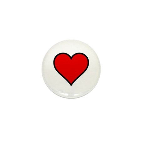 Simple Heart Mini Button (10 pack)
