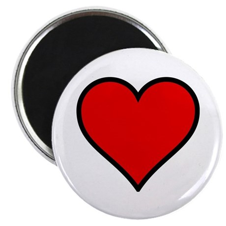 "Simple Heart 2.25"" Magnet (10 pack)"
