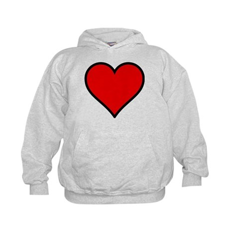 Simple Heart Kids Hoodie