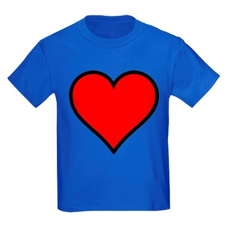 Simple Heart Kids Dark T-Shirt