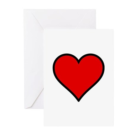Simple Heart Greeting Cards (Pk of 10)