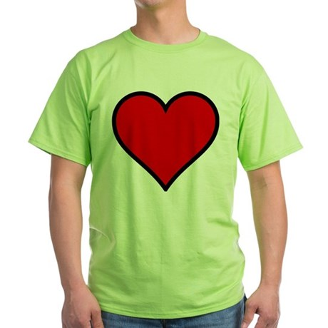 Simple Heart Green T-Shirt