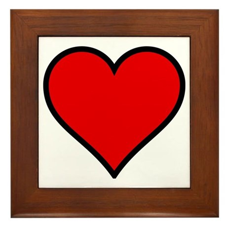 Simple Heart Framed Tile