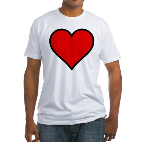Simple Heart Fitted T-Shirt