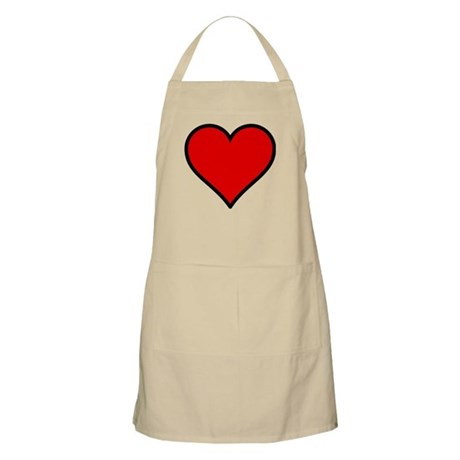 Simple Heart BBQ Apron
