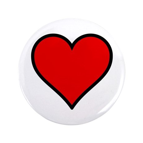 "Simple Heart 3.5"" Button"