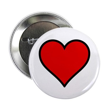 "Simple Heart 2.25"" Button (100 pack)"