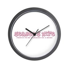 Funny Proud sailor's wife Wall Clock