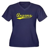Vintage Aryana (Gold) Women's Plus Size V-Neck Dar