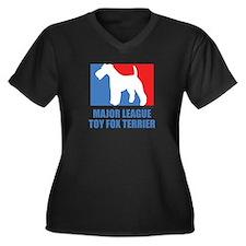 ML T.F.T. Women's Plus Size V-Neck Dark T-Shirt