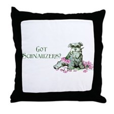 Got Schnauzers Dog Art Throw Pillow
