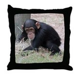 Chimp baby Throw Pillow
