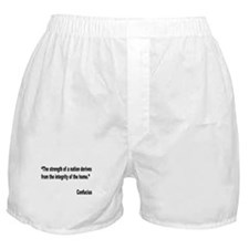 Confucius Home Integrity Quote Boxer Shorts
