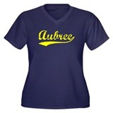 Vintage Aubree (Gold) Women's Plus Size V-Neck Dar