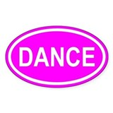 DANCE Pink Euro Oval Decal