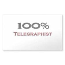 100 Percent Telegraphist Rectangle Decal