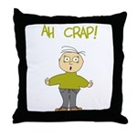 Ah Crap Throw Pillow