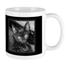 Cute Black Kitty Dark Mug