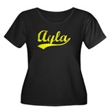 Vintage Ayla (Gold) Women's Plus Size Scoop Neck D