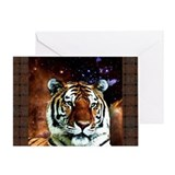 Bengal Tiger In Space Greeting Card