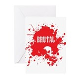 Brutal Blood Greeting Cards (Pk of 10)
