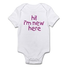 im new here-girl Infant Bodysuit