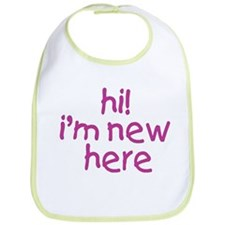 im new here-girl Bib