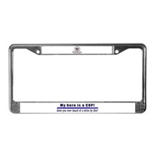 Drive By Fire COP Gift License Plate Frame