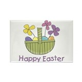 Easter Basket for Girls Rectangle Magnet (10 pack)