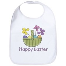 Easter Basket for Girls Bib