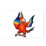 Flipping Bird Parrot Postcards (Package of 8)
