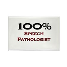 100 Percent Speech Pathologist Rectangle Magnet (1