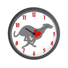 Greyhound Wall Clock/Heart Hound