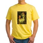 Ophelia-Aussie Terrier Yellow T-Shirt