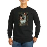 Ophelia-Aussie Terrier Long Sleeve Dark T-Shirt