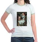 Ophelia-Aussie Terrier Jr. Ringer T-Shirt