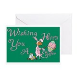 Easter Egg Goat Greeting Card