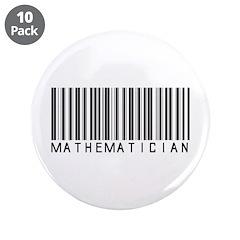 "Mathematician Barcode 3.5"" Button (10 pack)"