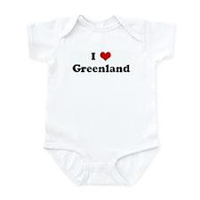 I Love Greenland Infant Bodysuit
