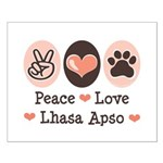 Peace Love Lhasa Apso Small Poster