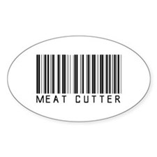 Meat Cutter Barcode Oval Decal
