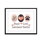 Peace Love Lakeland Terrier Framed Panel Print