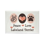Peace Love Lakeland Terrier Rectangle Magnet