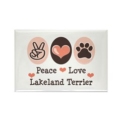 Peace Love Lakeland Terrier Rectangle Magnet