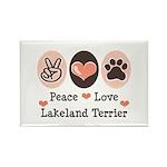 Peace Love Lakeland Terrier Rectangle Magnet (100