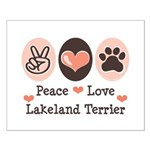 Peace Love Lakeland Terrier Small Poster