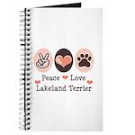 Peace Love Lakeland Terrier Journal
