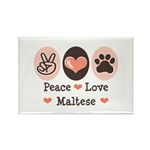 Peace Love Maltese Rectangle Magnet (10 pack)